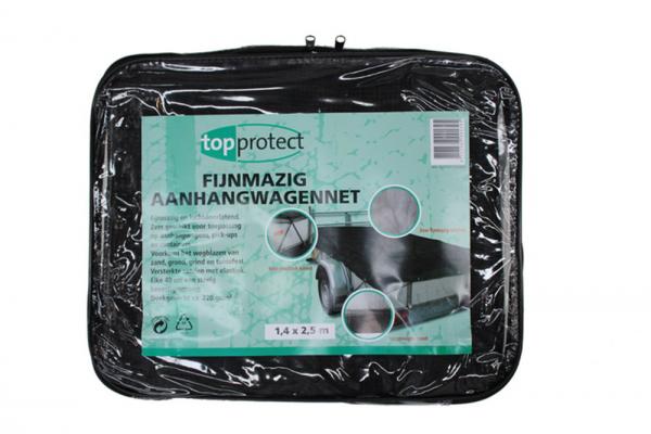 Topprotect aanhangernet 200x300 cm fijnmazig met koord