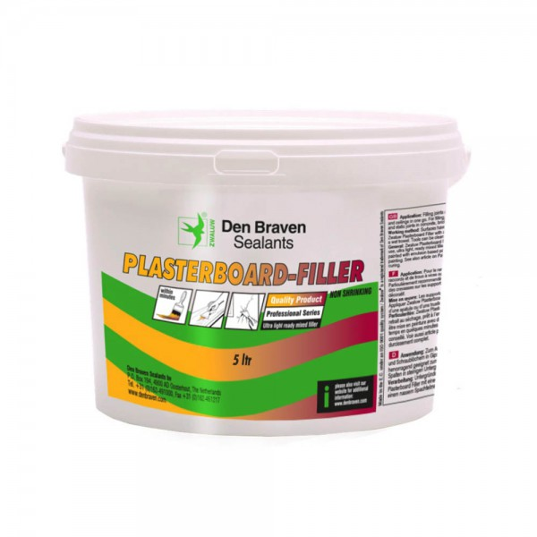 Zwaluw Plasterboard Filler - wit - 5 liter