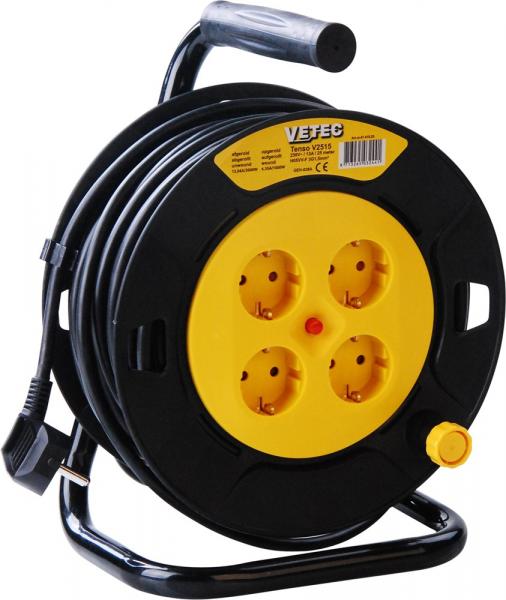 Vetec kabelhaspel H05VV-F 3x1,5 mm vinyl