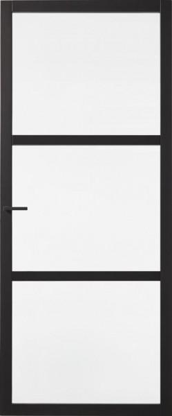 Skantrae SSL 4023 blank glas binnendeur zwart Opdek - Rechtsdraaiend Breedte - 88 cm Hoogte - 231,5 cm product foto