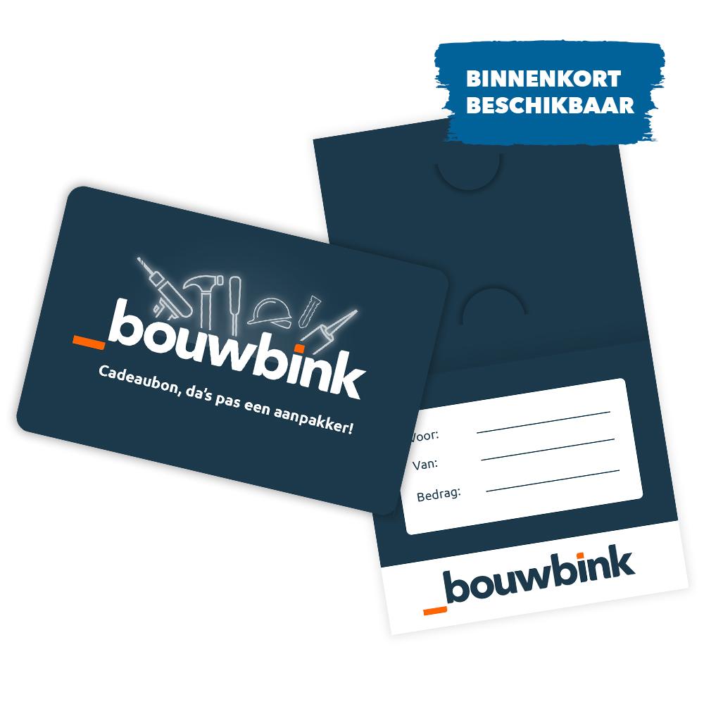 Bouwbink Cadeaubon: binnenkort beschikbaar